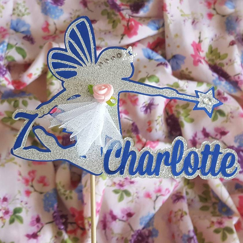 Fairy Cake Topper Personalised