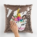Unicorn Reversible Sequin Cushion-Personalised custom