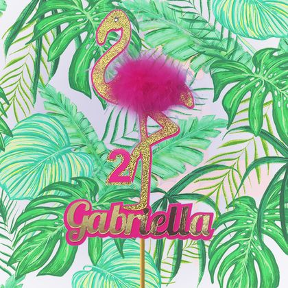 Flamingo Cake Topper Personalised