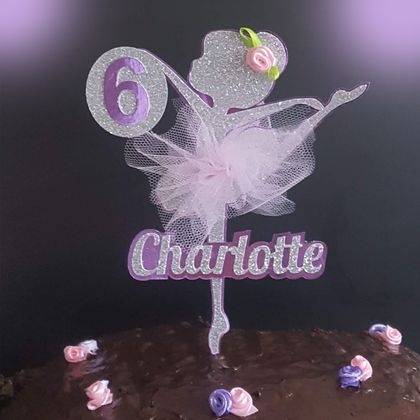 Ballerina Cake Topper Personalised