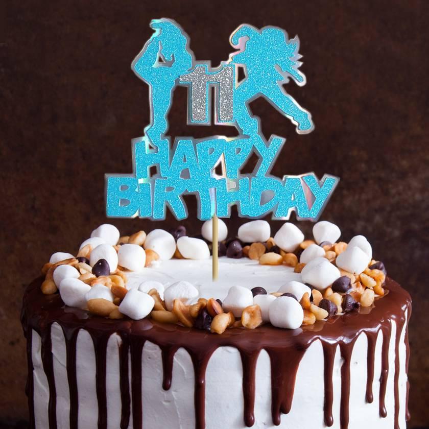 Sensational Hip Hop Jazz Happy Birthday Cake Topper Felt Funny Birthday Cards Online Inifodamsfinfo