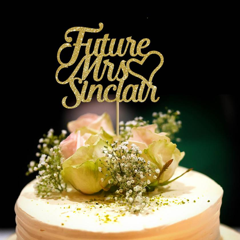 """""""Future Mrs..."""" Cake Topper Personalised Hen Party"""