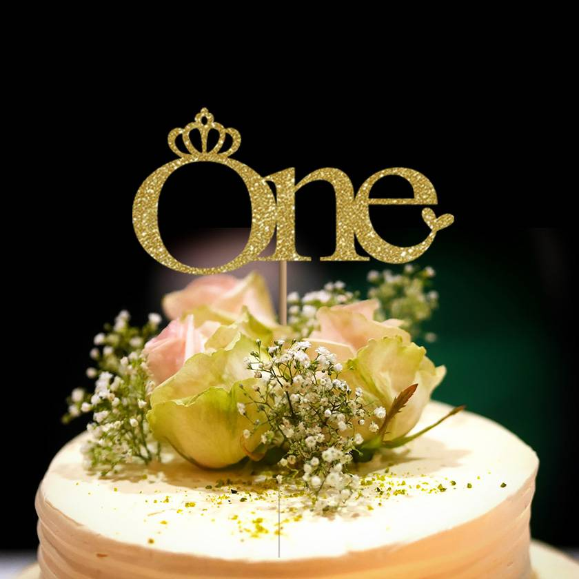 """""""One"""" First Birthday Cake Topper"""