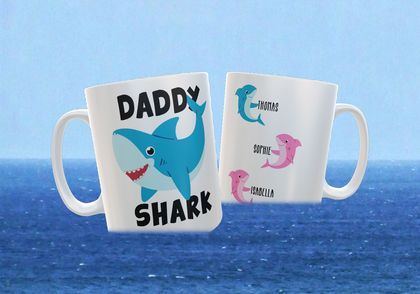 Daddy Shark Father's Day Personalised funny Mug