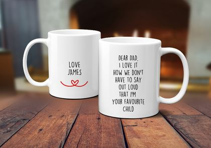 Favourite Child Father's Day  Personalised Funny  Mug