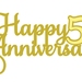 Happy 50th Anniversary Cake Topper