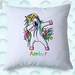 Personalised Unicorn Cushion Cover  40cm 3 Designs