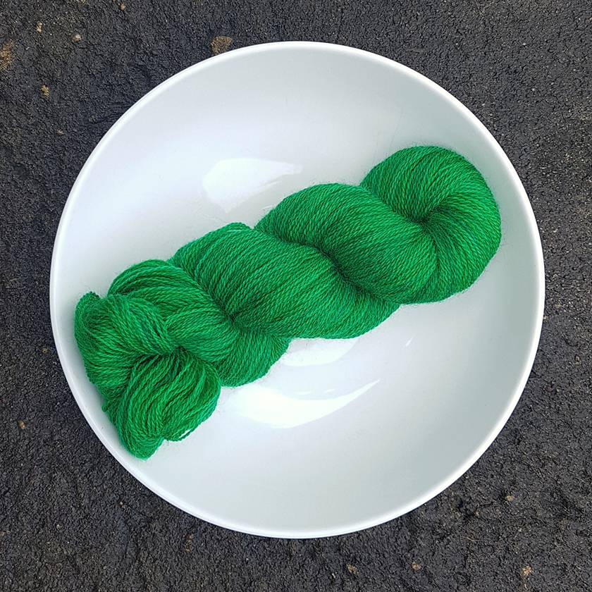 Hand Dyed 3 to 4ply Romney Lambswool Yarn