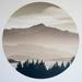 Black Peak, Wanaka vinyl wall dot size 18cmx18cm