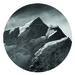 Mount Cook summit vinyl wall dot photography by Simon Larkin size 58cmx58cm