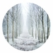 Frost forest woods vinyl wall dot size 18cm x 18cm