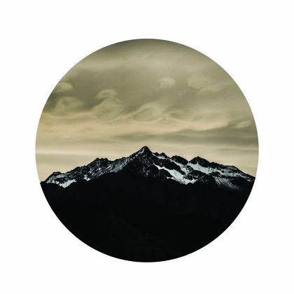 Wave cloud over Sentinel Peak Wanaka vinyl wall dot size 58cm x 58cm