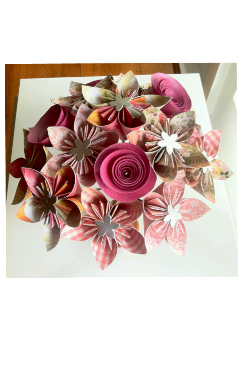 Origami Flower Bouquet Made By Order Felt