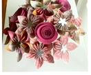 Origami flower bouquet made by order  - Please see shipping options at the end of the description