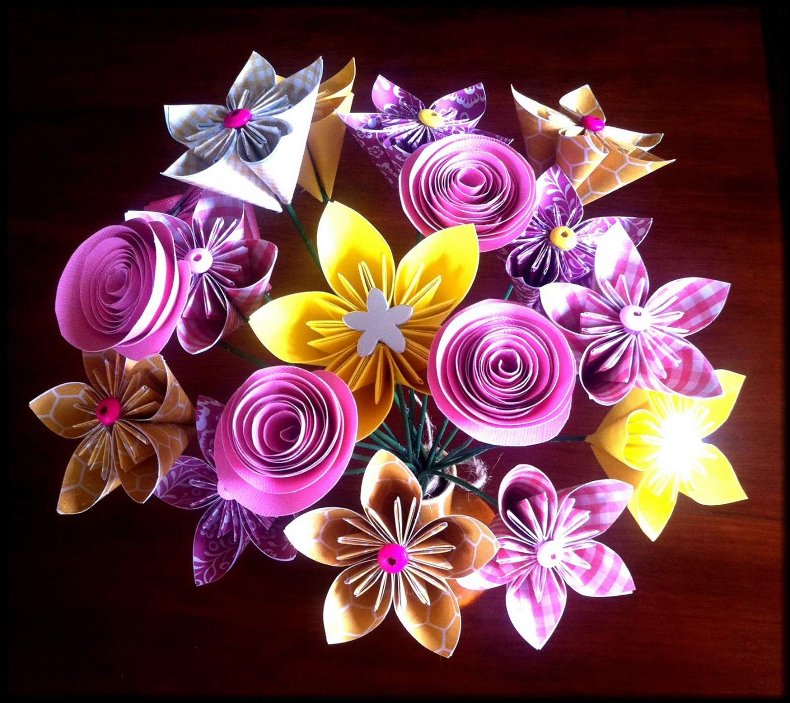 Origami flower bouquet made by order | Felt
