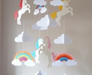 Unicorn baby mobile  made to order
