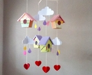Bird house mobile  made to order