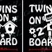 Twins on board car decal