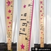 Wooden height chart (natural background)