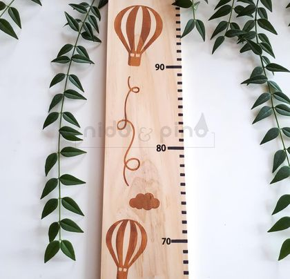 Balloons height chart natural background