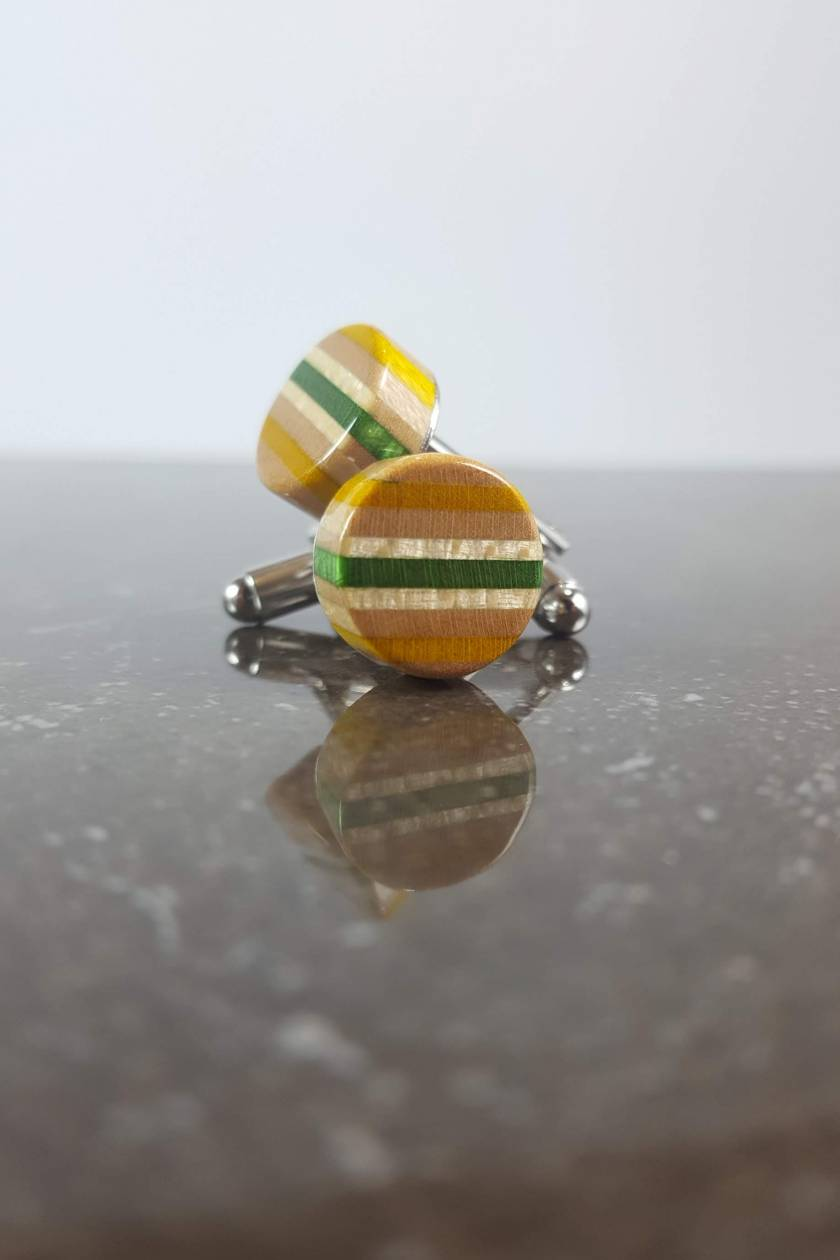 Christmas gift for men - Mens recycled skateboard cufflinks the perfect Christmas gift for a Business Shirt wearer