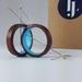Wooden Blue Loop earrings