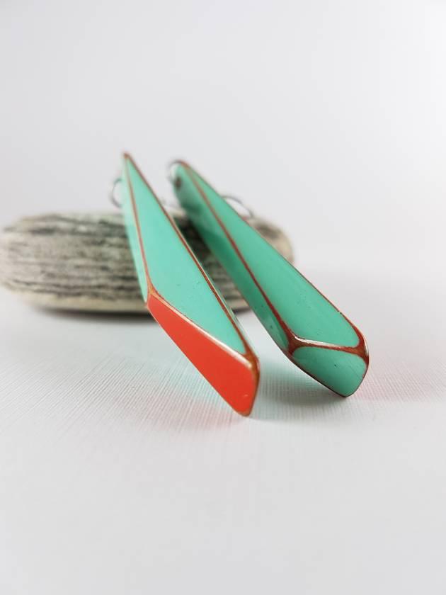 Long Amalfi blue earrings