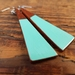 Long Amalfi blue Wooden drop earrings
