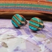 Recycled wooden earring studs (skateboard) New smaller size 8mm