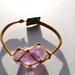 Macramé bracelet Amethyst