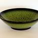 Green Salad Bowl with Black Rim