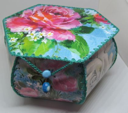 Beautiful handcrafted floral vintage themed box