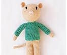 Mister Mouse - amigurumi crochet stuffed toy mouse
