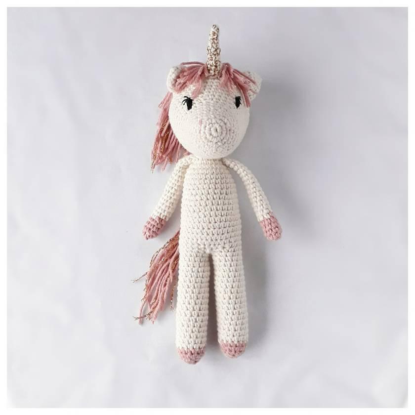 Junie Unicorn - amigurumi crochet stuffed toy unicorn