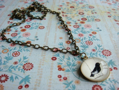 Bird on a perch necklace