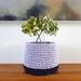 ECO Large pot (lilac + navy)