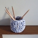 ECO Pencil pot (blue + white)
