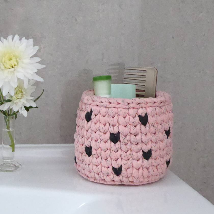 ECO Storage pot (pink + charcoal)