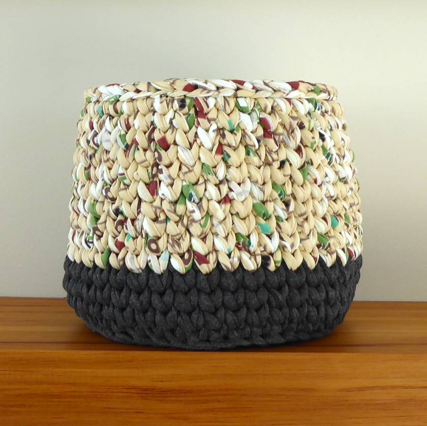 ECO Large pot (pattern + charcoal)