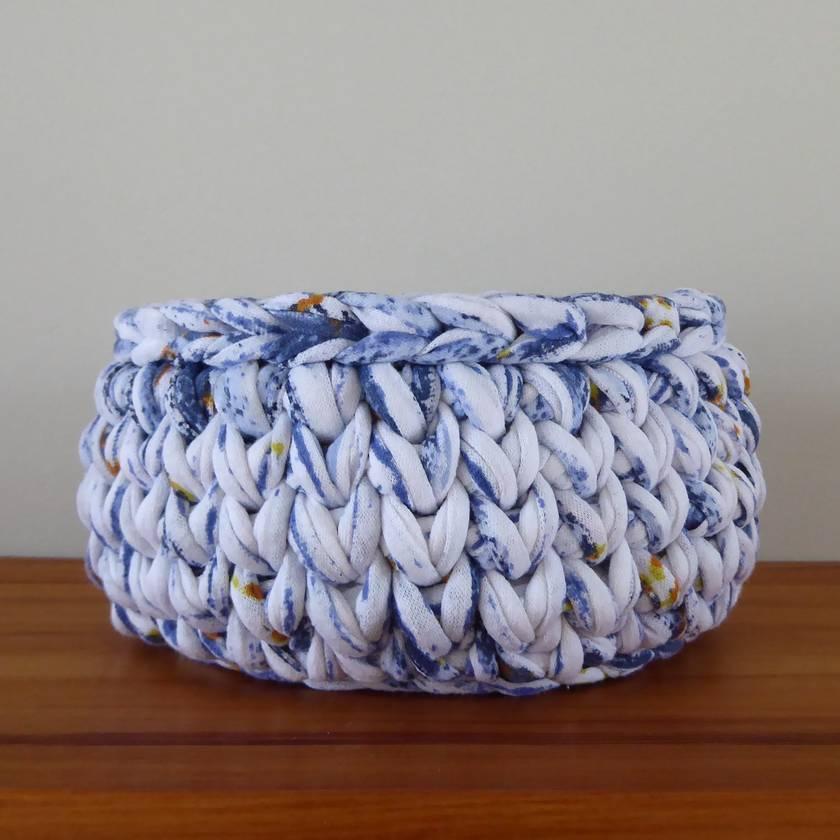 ECO Small storage bowl (blue + white + orange)