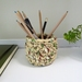 ECO Pencil pot (yellow pattern)