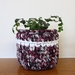 ECO Small pot (red, black + grey pattern)