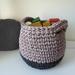ECO Large storage basket (pearly pink + grey)