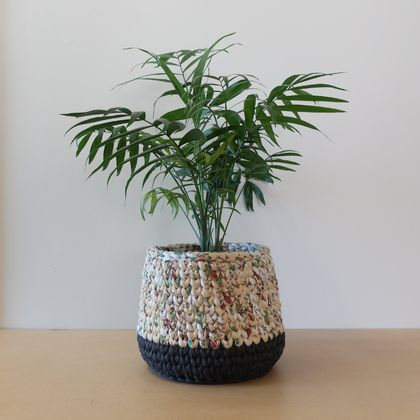 Large Planter - Multi + Charcoal
