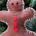 Felt Gingerbread Man Kit   -    NZ Postage included.