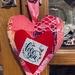 Valentines Heart. Hanging Decoration. Home decor.