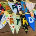 Customised Happy Birthday Party Bunting with Storage Bag