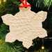 Set of 6 Lace Stamped Christmas Decorations