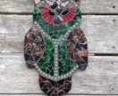 Mosaic Owl - Brown, Red and Green tones