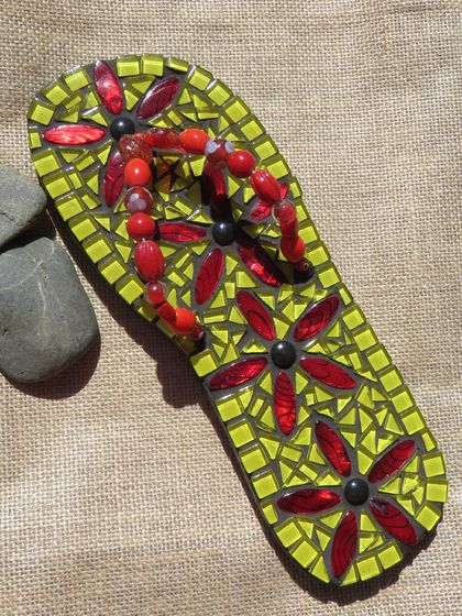 Mosaic Yellow and Red Jandal